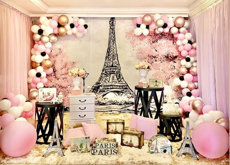 festa pink paris decoração pink paris