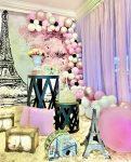 decoração pink paris festa