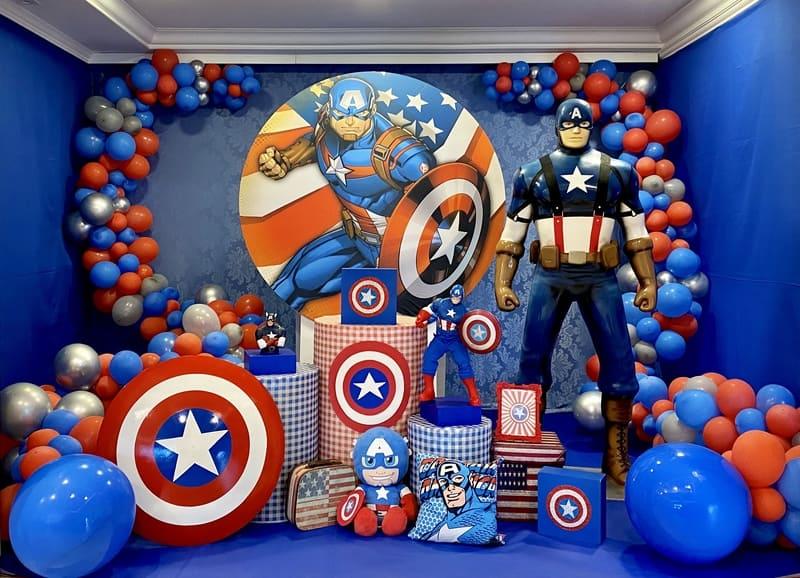 decoração capitão América curiitiba